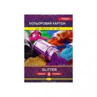 ККГ-А4-8 Набор цветного картона Glitter Premium А4, 8 листов