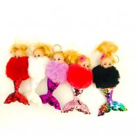 кукла-русалка брелок с пайеткой