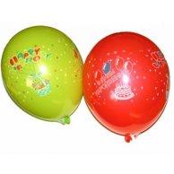 8310 Воздушные шарики 10 пастель С Днем рождения