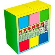 0889 Кубики Вивчаємо Кольори (4куб)