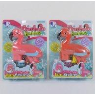 Р 8958 А Пистолет с мыльными пузырями Фламинго