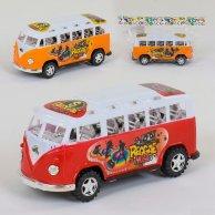 595-14 Автобус инерционный 2 цвет в пакете