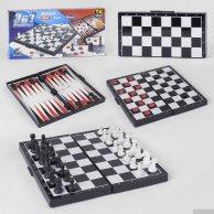 87807 Шахматы 3в1 магнитные в коробке