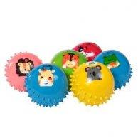Мяч резиновый Ежик 4  Животные 3шт в сетке
