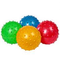 Мяч резиновый Ежик3 ОДНОТОННЫЙ  3шт в сетке