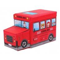0011 ВТ-ТВ Корзина для игр, автобус  27*31*55смсм