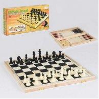 36816 С Шахматы 3в1 деревянная доска
