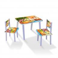 С 090  Столик МИНИ Пираты 60*46 см. столик + 2 стула