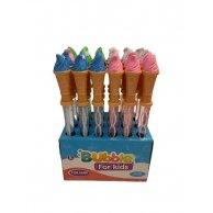 Р6-0129 Мыльные пузыри Мороженое, 38 см в кор, 4 цвета