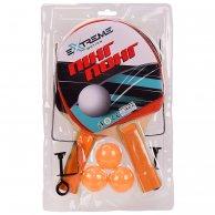 TT2114 Теннис настольный Extreme Motion, 2 ракетки, 3 мячика в слюде