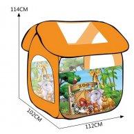 8009ZOO Палатка  Домик,размер изделия 114*102*112см, в сумке 34*34*6см