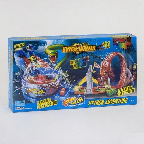 S 8840  Автотрек  Приключения Питона, машинка меняет цвет, в коробке