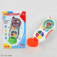 CY1013-4  Муз.разв. телефон звук, цифры, цвета, батар, в коробке 21,5**13,5*5,5см