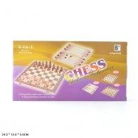 621 А Шахматы 3 в 1 , шахматы,шашки,нарды,в короб